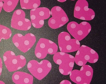 Pink Polkadot Heart Confetti, Heart die cut