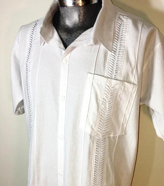 Guayabera Authentic Mexican Shirt Cami Wedding Wear 100 Cotton