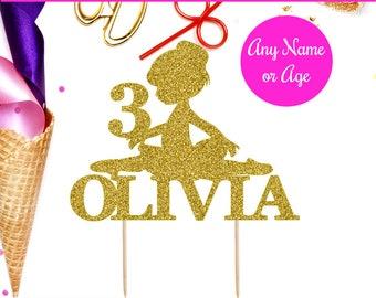 Personalized Ballerina Cake Topper, Ballerina Cake Topper, Ballerina Decor, Ballerina Birthday, Ballerina Party, Dancer Cake Topper Gold