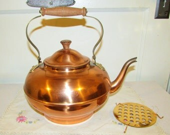 copper tea kettle, 3 pcs, made in Portugal