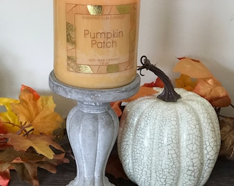all natural | eco friendly | custom candles | soy wax | wood wick candle | Pumpkin Patch Candle