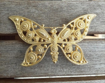 Vintage Yellowgold Butterfly Belt Buckle