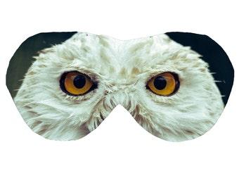Harry Potter OWL Eye Mask   Sleep Wellbeing   Organic Cotton Bamboo Photoprint   Handmade Relax Plane Travel Spa Luxury Gift Woman Man Vegan