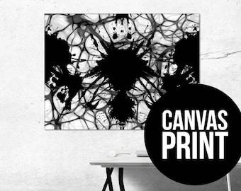 Abstract Canvas Wall Art Print Rorschach Art Rorschach Prints Rorschach Inkblot Rorschach Test Rorschach Ink Blot
