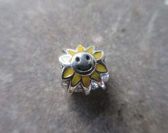 Authentic Pandora Smiling Sunshine Charm 790532EN20 Free Velvet Pouch Bag