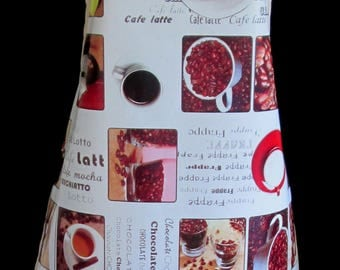 CAFE Apron / Pinny PVC/Oilcloth - Lightweight - Wipeclean - Craft - Cooking - Baking, etc