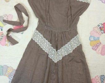 1940's Gingham Dress