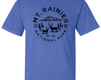 Mount Rainier National Park Adventure Comfort Colors TShirt