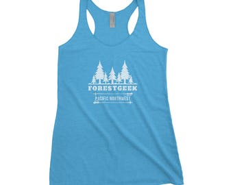 Forest Geek Adventure Next Level Ladies Tri-Blend Tank
