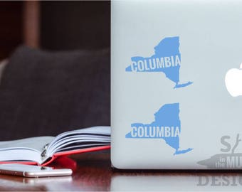 Columbia University Permanent & Custom State Vinyl Decal