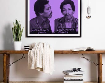 Jim Hendrix Mugshot Wall Art