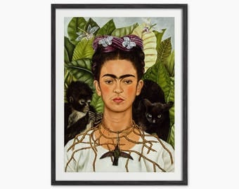 Frida Kahlo Self Portrait Art Print
