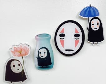 Ghibli Pins | No-Face Pins