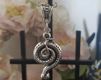 Tibetan Silver Snake Necklace