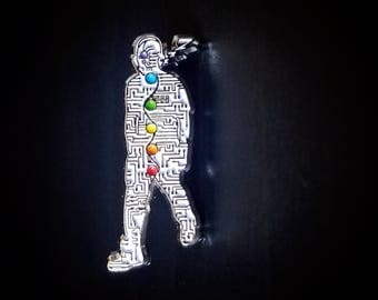 Mischief of a sleepwalker Lapel Pin (White/Silver Variant)