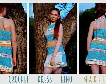 Summer crochet Dress Etno