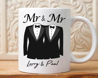 Wedding gift for groom etsy mr and mr wedding mug gift for mr and mr gay wedding gift negle Choice Image