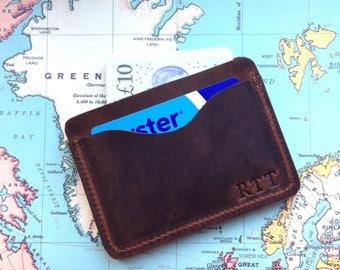 Minimalist wallet Leather Mens Wallet Minimalist Leather Wallet groomsmen Gift 3rd anniversary Gift for Men Card Holder Super Slim Wallet
