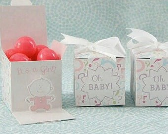 Gender Reveal Mini Favour Box, It's a Girl Gender Reveal, It's a Boy Gender Reveal, Cute little mini boxes for Gender Reveal, Baby Shower