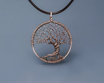 Family tree of life Wire wrapped jewelry Tree life pendant Handmade copper pendant Tree of life pendant Wire wrapped tree life pendant