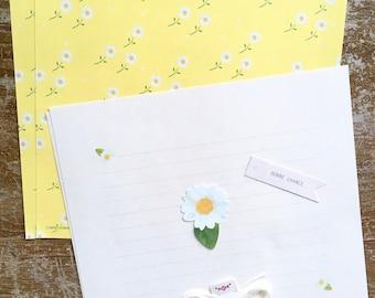 Set carta da lettere MARGHERITE