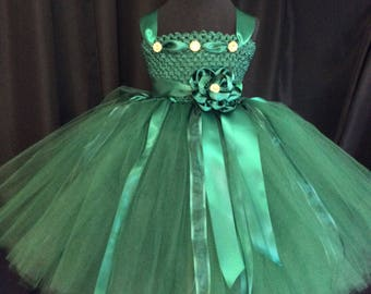 Hunter green flower girl dress, tulle flower girl dress, tutu dress for girls, tutu flower girl dress, wedding, green flower girl dress