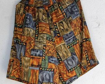 Vintage|1990s| Tribal grunge high waisted shorts