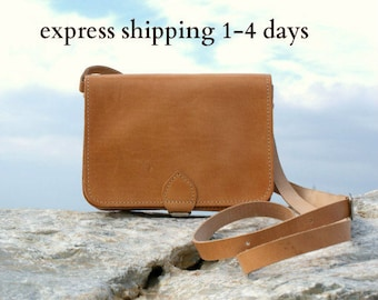small womens leather shoulder bag/ women crossbody purse/ classic structured bag/ womens leather purse/ Greek leather purse/ code 250