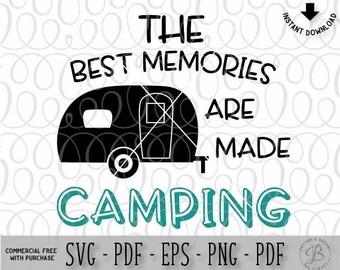 Camper svg, Happy camper svg, Camping svg, camping cut files, Svg files for cricut, SVG files