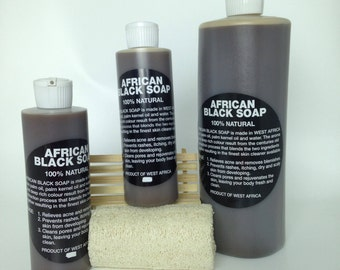 Liquid African Black Soap  100% Pure Raw/ Acne help