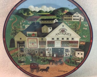 Bradford Exchange Charles Wysocki's Peppercricket Grove Collector Plate - 'Peppercricket Farms' (#198)