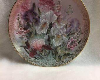 W.L. George Symphony of Shimmering Beauty Collector Plate - 'Iris Quartet' (#241)