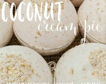 Vanilla Coconut Bath Bomb - Dye-Free Colorant Free - All Natural - SLS Free - Fragrance Free - Kid Safe Bath Bomb for Sensitive Skin