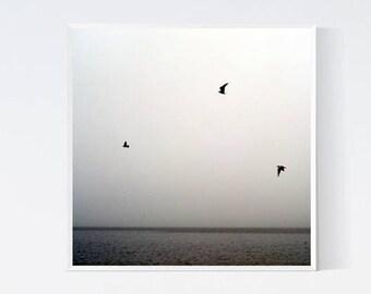 Minimalistic print  Printable art Black and white photography Digital download poster Minimalist walldecor Sea decor Scandinavian hanging