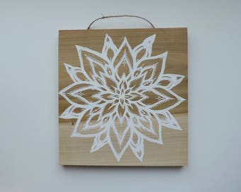 Kailua - Painting on Poplar Wood - Wall Hanging