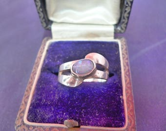 Moon stone ring - 925 - sterling silver - UK L - US 5.75