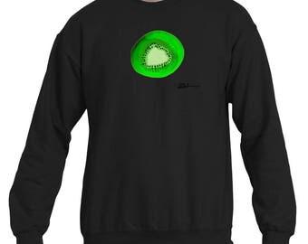Kiwi sweatshirt, fruit sweatshirt