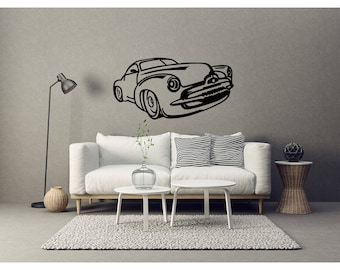 Muscle Wall Decal Etsy - Modern car sticker decal
