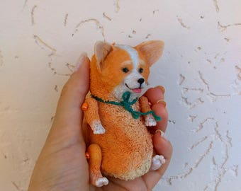 Little cute puppy corgi dog doll
