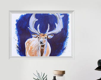 Print - Deer Art Painting