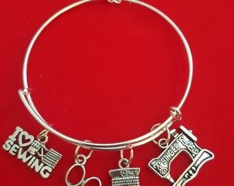 Seamstress Themed Charm Bracelet