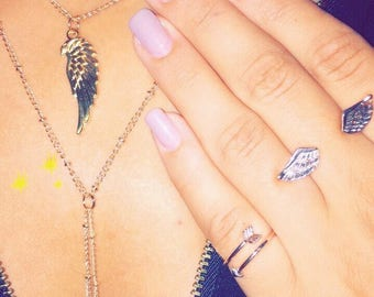 Layered Wing Necklace