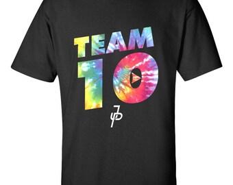 NEW Jake Paul Team 10 Rainbow Tie Dye Paulers Unique Custom For T-shirt Gildan Men's & Women's S M L XL 2XL 3XL Clothing Tshirt Shirt