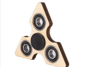 Wooden Fidget Spinner Stress Toy - Decorate YOUR Own Hand Finger Spinners - Autism Anxiety ADHD Stress Relief