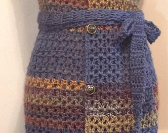 Handmade Crochet Vintage Blue