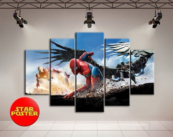 Spider-Man Homecoming, Spider-Man, Marvel home art, Spider-Man canvas, Spider-Man wall decor, Marvel art, Spider-Man poster, Marvel print