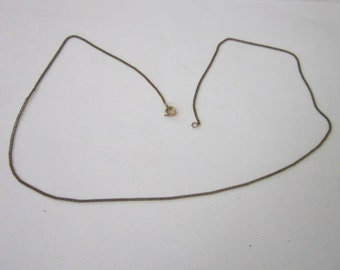 Antique Gold Filled 18 inch Chain Necklace