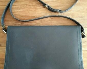 Handbag Vintage adjustable straps to Shoulder Bag Deep Blue Sac a main Cuir Veritable Bleu Marine Vintage