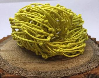 Yellow Bracelet, Cotton Bracelet, Organic, Natural Bracelet, Friendship Bracelet, Bundle Bracelet