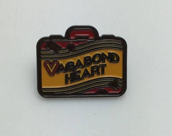 Vagabond Heart - Wanderer Suitcase Travel Enamel Lapel Pin